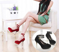 Wholesale Fashion Sexy Lady Stiletto Heel Women s High Heels Buckle Shoes For Christmas High Shoes CW03006