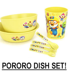 Wholesale Pororo Bowl Korea Animation Character Pororo Dish Set PORO27