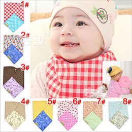 Wholesale baby lovely candy color cotton triangle scarf infant saliva towel baby slobber towel jlbgmy