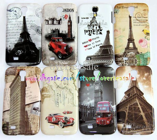 paris eiffel tower london bus car skin hard plastic cover case for samsung galaxy s4 i9500 paris. Black Bedroom Furniture Sets. Home Design Ideas