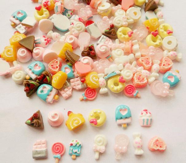 Cake Nail Art Designs : Nail Art Acrylic 3d Cute Design Cake 13designs Rhinestone ...