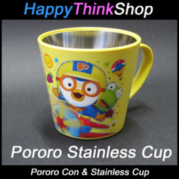 Wholesale Pororo Con Stainless Yellow Cup Happythinkshop s Cute Pororo Sticker PORO29