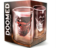 Wholesale Newest Doomed Crystal Skull Shot Glass Crystal Skull Head Vodka Shot Wine Glass Novelty Cup Free Shi