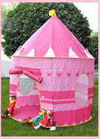 Wholesale New Pink Kids Castle Palace Tent Princess Play House Children s Cubby Fun Hut