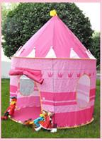 Wholesale New Pink Kids Castle Palace Tent Princess Play House Children s Cubby Fun Hut