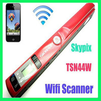Wholesale TSN44W A4 WIFI Portable Handheld film document handy Scanner Support JPG PDF DPI photo scanner