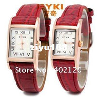 Unisex Square 23 Top quality fashion EYKI Brand Watch Love Pair watch men women Good Quality Leather Japan Movement S