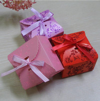 baby shower gifts - Bowtie Ribbon Floral Wedding Candy Boxes Favor Baby Shower Gifts Holder