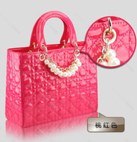 Wholesale 2013 fashion Lady handbag Fashion lady totes Pearl hand bag PU leather evening bag