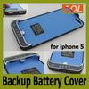 Power Bank 2200mah External Charger Backup Battery Cover Case for iphone 5 5G With retail package
