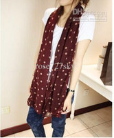 Wholesale Polka Dots Bohemia scarf Lady scarf Fashion lady pashmina Soft silk scarf Beach shawl Girl Wraps