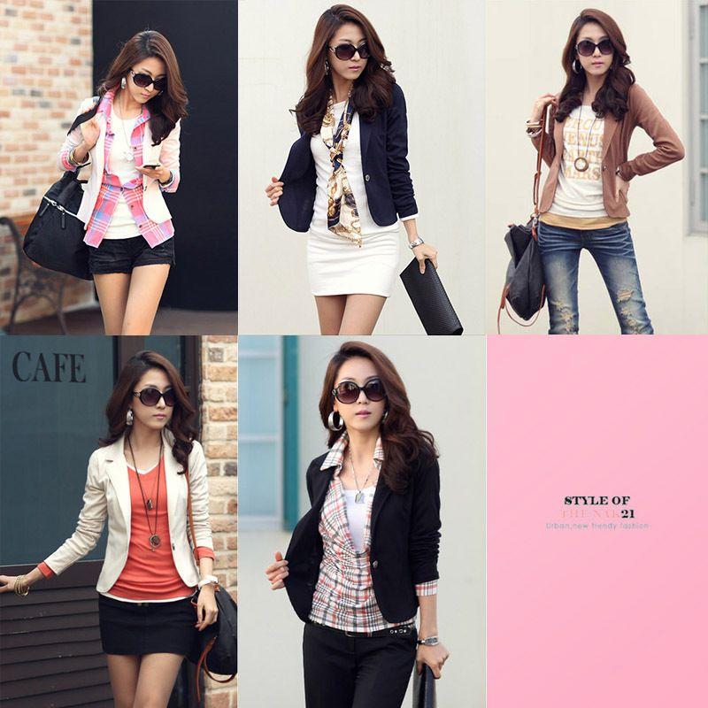Free Shipping 2012 spring fashion blazer women's outerwear spring and autumn short jacket women fashion jackets 2 colors