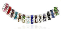 Wholesale MM Crystal Spacer Metal Rondelle Rhinestone Loose Beads For Jewelry Making