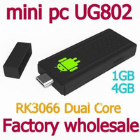 Wholesale Big promotion Mini PC UG802 Dual Core RK3066 GHz Cortex A9 Dual Stick MK802 III Android IPTV