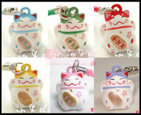 bell charm - Hot Various Color Cute Maneki Neko Lucky Cat Bell Mobile Cell Phone Charm quot Popular Gift