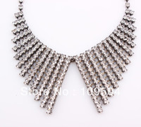 Wholesale Shining Crystal False Collar Necklace Fancy Wedding Bridal Necklace Jewelry Nice Gift