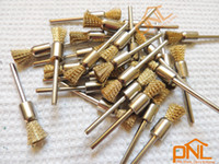 Wholesale 18PC Brass Wire Pencil Brushes Dremel Accessories For Rotary Tools