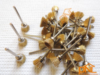 Wholesale 18PC Brass Wire Cup Brushes Dremel Accessories For Rotary Tools