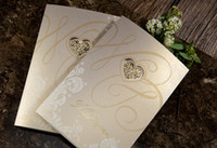 Wholesale Perfect day Hollow out LOVE Wedding invitations wedding cards personalized invitations Fast shipping
