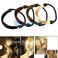Wholesale Korean Wig Hair Ponytail Holders Plaits Hair Circle Manual Twist Rubber Band