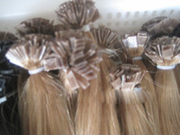 blonde straight 1.0g Wholesale - 22'' #16 100s set (1g strand) Indian Remy Human flat tip Hair Extensions