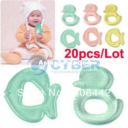 Wholesale 20pcs Ducks and Fish Shape Water Filled Cooling Baby Teether Safe