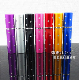 Wholesale 10ml Travalo Aluminum Mini Refillable Travel Perfume Spray Case Bottle Makeup Container Colors