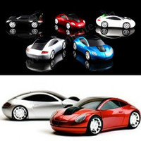 Wholesale New G DPI D Car Shape Wireless Optical Mouse Mice for Laptop PC USB Receiver