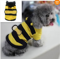 Wholesale Lowest Price Bumblebee Dog Halloween Costume Clothes Pet Apparel Bumble Bee Dress Up