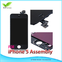 Wholesale 3pcs DHL full lcd digitizer assembly for iphone G black and white good quality