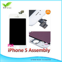 Wholesale 3pcs DHL full lcd digitizer assembly for iphone G white color good quality
