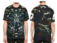 Wholesale Italian aircraft camouflage star bird paradise Men s Fighters print fashion short sleeved t shirts