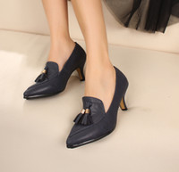 Wholesale 2013 women dress platform wedges designer wedding pumps shoes spring fashion tassel pointed toe single ml
