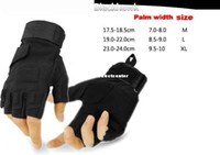 Wholesale Tactical Airsoft Adjustable Fingerless Gloves Outdoor Hunting Cycling Paintball