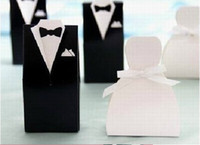 Wholesale Hot Sale TUXEDO And DRESS Groom Bridal Wedding Favours Candy Boxes For Party Gift