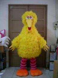 Sesame Street Big yellow bird Mascot Costume Adult Size Cartoon Fancy Dress