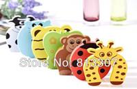 Wholesale 10pcs set Child kids Baby Animal Jammers Stop Door stopper holder lock Safety Guard Finger P