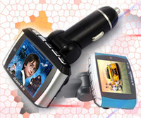 Wholesale 1 quot LCD Wireless Car MP3 player MP4 FM Transmitter SD MMC USB