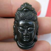 chinese jade jewelry - Natural Green Black jade Buddha pendant chinese Jade pendants jewelry