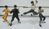 bandai wholesale - 4pcs set Bruce Lee Figures Kung Fu Master Legend PVC Bandai