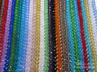 Crystal   FREE SHIPPING 720PCS 8mm Mixed Color Clear Crystal Glass Beads Round Facet Crystal Beads