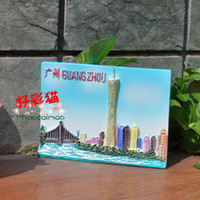 Wholesale Magnet refrigerator stickers pearl river souvenir