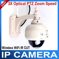 Wholesale 3X Optical PTZ Zoom Speed Wireless WiFi IR CUT Night Vision Waterproof Security IP Camera