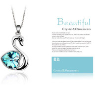 Wholesale Lovely Swan Crystal necklace Korean new diamond jewelry fine natural LM N096