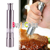 Wholesale Thumb Push Salt Pepper Grinder Spice Sauce Stainless Steel Mill Grind Stick