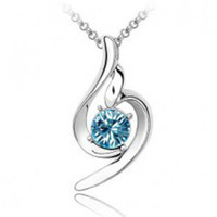 Mexican swarovski - B12 Fashion SWAROVSKI Elements Crystal Necklaces Lucky Love Pendant Necklace