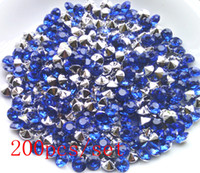 Wholesale loose acrylic rhinestone beads blue per for necklace bracelet hair ornaments