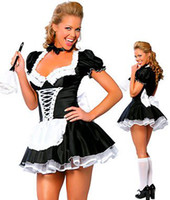 Wholesale Late Nite Maid Sexy Halloween Costumes Party costume cosplay Dress