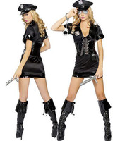 other bengaline dress - Stretch Bengaline Dress sexy cop costume police costumes Halloween Party costume cosplay Costumes