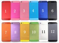 Piezas de repuesto colorida del metal de la contraportada de la batería de Vivienda puerta para iphone 5 5G 20pcs envío gratuito